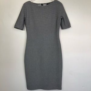 NWT Zara Midi Dress Houndstood Print Sz Large